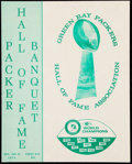 Football Collectibles:Publications, 1975 Green Bay Packers Hall of Fame Banquet Program.. ...