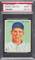 Baseball Cards:Singles (1930-1939), 1933 Goudey Russell Van Atta #215 PSA NM-MT 8 - Only One Higher....
