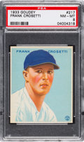 Baseball Cards:Singles (1930-1939), 1933 Goudey Frank Crosetti #217 PSA NM-MT 8....