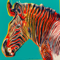 Fine Art - Work on Paper:Print, Andy Warhol (1928-1987). Grevy's Zebra, from EndangeredSpecies, 1983. Screenprint in colors on Lenox Museum Board. ...