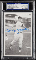 Autographs:Post Cards, Circa 1960 Mickey Mantle Signed Postcard. . ...