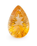 Gems:Faceted, Gemstone: Citrine - 17.14 Cts.. Brazil. 15.24 x 12.11 x 9.95mm . ...