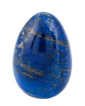 Lapidary Art:Eggs and Spheres, Lapis Egg. Afghanistan. 3.50 x 2.30 inches (8.88 x 5.85 cm)....