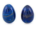 Lapidary Art:Eggs and Spheres, Lapis Egg Pair. Afghanistan. 2.95 x 1.60 inches (7.50 x 4.06cm). ... (Total: 2 Items)