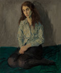 Fine Art - Painting, American, Raphael Soyer (American, 1899-1987). Pensive Model, circa1965. Oil on canvas. 24 x 20 inches (61.0 x 50.8 cm). Signed l...