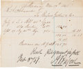 Autographs:Military Figures, Abraham Buford Document Signed....