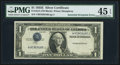 Error Notes:Inverted Third Printings, Fr. 1614 $1 1935E Silver Certificate. PMG Choice Extremely Fine 45EPQ.. ...