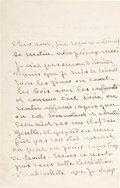 Autographs:Authors, George Sand Autograph Letter Signed with Transmittal Cover.... (Total: 3 Items)
