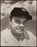"""Baseball Collectibles:Photos, Babe Ruth Print Used on the Cover of 1948 """"SPORT"""" Magazine Issue....."""