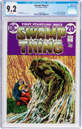 Bronze Age (1970-1979):Horror, Swamp Thing #1 (DC, 1972) CGC NM- 9.2 White pages....
