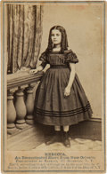 Photography:CDVs, Carte de Visite of Rebecca, an Emancipated Slave from New Orleans....