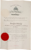 Autographs:U.S. Presidents, Theodore Roosevelt Appointment Signed ...