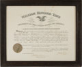 Autographs:U.S. Presidents, William Howard Taft Appointment Signed ...