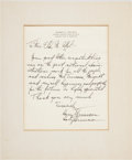 Autographs:U.S. Presidents, Harry S. Truman Printed Farewell Letter with HolographicSignature...
