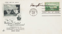 Harry S. Truman First Day Cover Signed