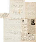 Autographs:Authors, Literary Autograph Letters (5) Collection. ...