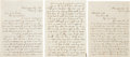 """Autographs:Artists, [Abraham Lincoln]. Lavinia """"Vinnie"""" Ream Autograph Letters (2) Signed with Related Papers...."""
