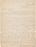 Autographs:Military Figures, John Edwards Autograph Letter Signed to Fellow Confederate in Exile Thomas C. Reynolds....