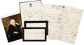 Autographs:Non-American, [Queen Victoria]. Two Autograph Letters Signed and One Note Signed....