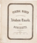 Miscellaneous, [Abraham Lincoln]. Donizetti. Funeral March Performed at theFuneral of Abraham Lincoln....