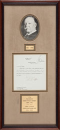 Autographs:U.S. Presidents, William H. Taft Typed Letter Signed ...