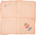 Miscellaneous, Herbert Hoover Embroidered Handkerchief....