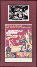 """Movie Posters:Science Fiction, Robinson Crusoe on Mars (Paramount, 1964). Matted Display (17"""" X31.25"""") with Window Card (14"""" X 22"""") and Autographed Photo ..."""