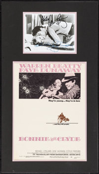 """Bonnie and Clyde (Warner Brothers-Seven Arts, 1967). Matted Display (18"""" X 32"""") with Window Card (14"""" X 2..."""