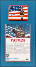 """Movie Posters:War, Patton (20th Century Fox, 1970). Matted Display (17.25"""" X 32.5"""")with Window Card (14"""" X 22"""") & Autographed Photo (8"""" X 10"""")..."""