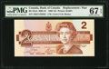 Canadian Currency: , BC-55aA $2 1986 Replacement. ...