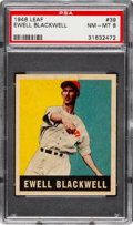 Baseball Cards:Singles (1940-1949), 1948 Leaf Ewell Blackwell #39 PSA NM-MT 8 - Only One Higher. ...