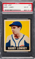 Baseball Cards:Singles (1940-1949), 1948 Leaf Harry Lowrey #33 PSA NM-MT 8 - None Higher. ...
