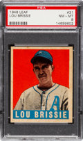 Baseball Cards:Singles (1940-1949), 1948 Leaf Lou Brissie #31 PSA NM-MT 8....