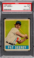 Baseball Cards:Singles (1940-1949), 1948 Leaf Pat Seerey #73 PSA NM-MT 8....