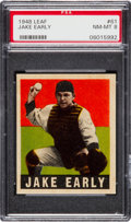 Baseball Cards:Singles (1940-1949), 1948 Leaf Jake Early #61 PSA NM-MT 8....