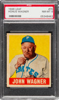 Baseball Cards:Singles (1940-1949), 1948 Leaf Honus Wagner #70 PSA NM-MT 8 - Only One Higher....