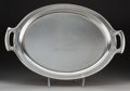 Silver Holloware, American:Trays, A Tiffany & Co. Silver Equestrian Presentation Tray and Photo:Belmont Park New York Handicap, New York, New Yo...(Total: 2 Items)