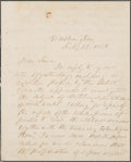 Autographs:U.S. Presidents, Franklin Pierce Autograph Letter Signed as President. ...