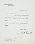 Autographs:U.S. Presidents, Franklin D. Roosevelt Typed Letter Signed Mentioning Missy LeHand....