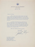 "Autographs:U.S. Presidents, Richard Nixon Typed Letter Signed ""Dick Nixon"" as Vice President. ..."