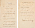 Autographs:U.S. Presidents, William McKinley Letter Signed as President....