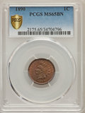 Indian Cents, 1890 1C MS65 Brown PCGS Secure. PCGS Population: (14/1). NGC Census: (16/3). CDN: $275 Whsle. Bid for problem-free NGC/PCGS...