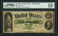 Large Size:Demand Notes, Fr. 2 $5 1861 Demand Note PMG Choice Fine 15 Net.. ...