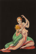 Other, Margaret Brundage (American, 1900-1976). A Rival from the Grave, Weird Tales magazine cover, January 1936. Pastel and mi...