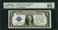 Small Size:Silver Certificates, Fr. 1605 $1 1928E Silver Certificate. PMG Choice Uncirculated 64 EPQ.. ...