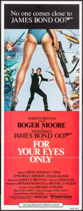 """Movie Posters:James Bond, For Your Eyes Only (United Artists, 1981). International Insert(14"""" X 36"""") Brian Bysouth Artwork. James Bond.. ..."""
