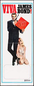 "Movie Posters:James Bond, Viva James Bond (United Artists, R-1970). Stock Insert (14"" X 36"")Yves Thos Artwork. James Bond.. ..."