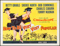 "Movie Posters:Comedy, How to Be Very, Very Popular (20th Century Fox, 1955). Half Sheet (22"" X 28""). Comedy.. ..."