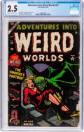 Golden Age (1938-1955):Horror, Adventures Into Weird Worlds #22 (Atlas, 1953) CGC GD+ 2.5 Cream tooff-white pages....