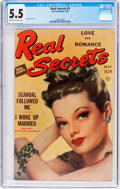 Golden Age (1938-1955):Romance, Real Secrets #5 (Ace Periodicals, 1950) CGC FN- 5.5 Off-white towhite pages....
